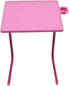 NA Pink Plastic Portable Laptop Table (Finish Color - Pink)